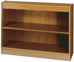 30'' H Square Edge Two Shelf Veneer Bookcase - Medium Oak [1501MOC-FS-SAF]