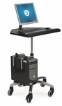 Workstation On Wheels Mobile Desk with Adjustable CPU Holder [WOW-FS-ESI]