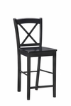 X Back 24''H Counter Stool - Black [01709BLK-01-KD-U-FS-LIN]