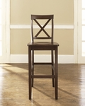 X-Back Bar Stool in Vintage Mahogany Finish with 30'' Seat Height - Set of 2 [CF500430-MA-FS-CRO]