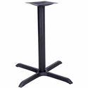 X-Shaped Base with 3'' Dia. Table Height or Bar Height Column