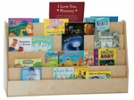 X-Tra Wide Double-Sided Book Display with Four Shelves on Each Side - Assembled - 48''W x 15''D x 29''H [34248-WDD]