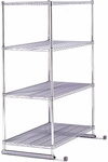 X5 Preconfigured 18'' D x 36'' W Four Shelf Rack - Chrome [X5R-1836-MFO]