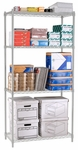 X5 Preconfigured 24'' D x 36'' W Four Shelf Rack - Chrome [X5R-2436-MFO]