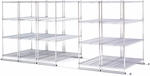 X5 Preconfigured Kit Five 36'' W x 18'' D Four Shelf Units with Tracks Included [X5S-1836-MFO]