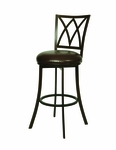 Xenophon 26'' Swivel Barstool - Dark Mocha Finish and Ford Taupe Upholstery [QLXP222320285-FS-PSTL]