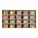 Young Time® 20-Tray Cubby Storage Unit with Clear Trays [7041Y-JON]