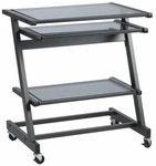Z Computer Cart in Black [26953-FS-ERS]