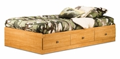 Zach Collection Twin Mates Bed (39'') Harvest Maple
