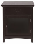 Zag Night Stand With Glass Door [ELG-715-FS-EHF]