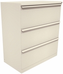 Zapf® 36'' W x 19'' D x 40'' H Three Drawer Lateral File - Putty Finish [ZSLF336-UT-MSCW36-FS-MVL]