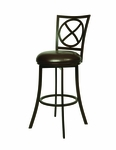 Zelenia 26'' Swivel Barstool - Dark Mocha Finish and Ford Taupe Upholstery [QLZL222320285-FS-PSTL]