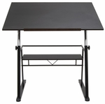 Zenith Sleek Modern Height Adjustable 42''W x 30''D Drafting Table - Black [13340-FS-SDI]