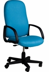 Durable 300 lb. Capacity High Back Swivel Chair with Swivel Tilt - Leather Upholstery [92253-LEA-FS-LZBF]