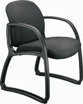 Durable 300 lb. Capacity Low Back Guest Chair - Leather Upholstery [92252-LEA-FS-LZBF]