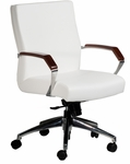 Focus 300 lb. Capacity Mid - Back Swivel Chair - Vinyl Upholstery [FO2585-V-FS-LZBF]