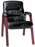 Horizon 300 lb. Capacity Mid - Back Guest Chair - Leather Upholstery [92122-LEA-FS-LZBF]