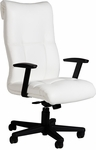 Orians 350 lb. Capacity High Back Swivel Chair with Urethane Arm Pads - Leather Upholstery [92D83-LEA-FS-LZBF]