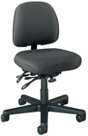 Series 100 300 lb. Capacity Armless Mid - Back Task Chair with Outside Plastic Back and Executive Use Controls - Grade 2 Fabric [L8152-GRD2-FS-LZBF]