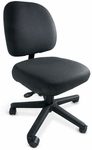 Series 100 300 lb. Capacity Mid - Back Task Chair with Outside Plastic Back and Basic Control - Grade 2 Fabric [L8112-GRD2-FS-LZBF]