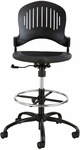 Zippi™ 25'' W x 41.5'' H Adjustable Height Plastic Extended Height Drafting Chair - Black [3386BL-FS-SAF]