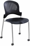 Zippi™ 18.75'' W x 21.50'' D x 33.50'' H Stacking Chair in Black - Set of Two - Black [3385BL-SAF]