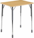 ZUMA Series Adjustable Height Student Desk with Hard Plastic Top [ZADJ2026M-VCO]