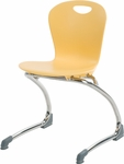 ZUMA Series Cantilever Chair with 15''H Seat Height - 17.38''W x 17.75''D x 26.75''H [ZCANT15-VCO]