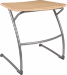 ZUMA Series Cantilever Student Desk with Bowfront Hard Plastic Top [ZDESK29M-VCO]