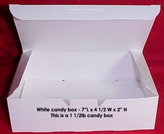 1 1/2lb White Empty Candy Box 25 Count