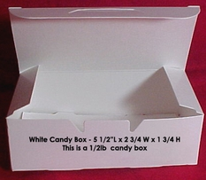1/2lb White Empty Candy Box 25 Count
