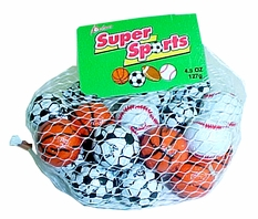Assorted Chocolate Sports Balls  4.5oz bag