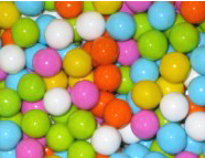 Assorted Colors Mini Chocolate Balls 2lb Bag Sixlets