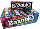 Bazooka Original & Blue Razz Bubble Gum 12 Packs