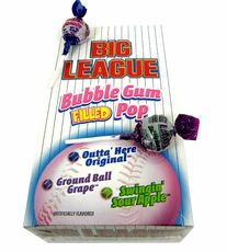 Big League Bubble Gum Lollipop 48 Count