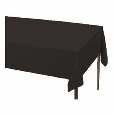Black Paper Tablecloth (Plastic lined)