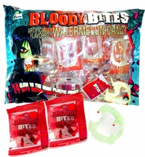 Bloody Bites Vampire Fangs With Candy Blood 24 Count