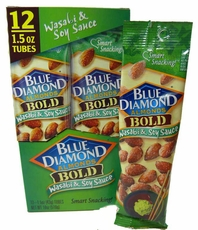 Blue Diamond Almonds Wasabi & Soy Sauce 1.5oz. Tube