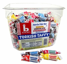 Bonomo Turkish Taffy Bite Size Assorted Flavors 216ct
