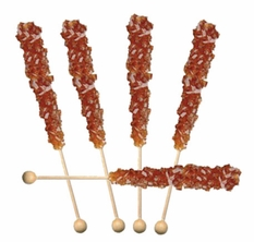 Brown Rock Candy Sticks Wrapped 30 Count