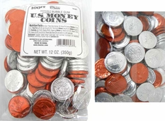 Bubble Gum Candy Coins 100ct