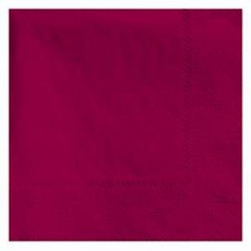 Burgundy Beverage Napkins 3 Ply - 50 Count