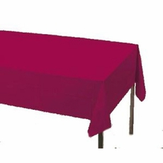 Burgundy Plastic Tablecloth