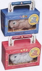 Chocolate Bunny Pets Pink or Blue Cage 3.5oz