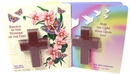 Chocolate Cross With Religious Easter Card Attached