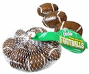 Chocolate Peanut Butter Footballs  3.40oz  Mesh Bag