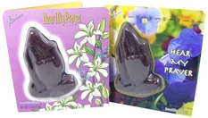 Chocolate Praying  Hands with a Religious Easter Card Attached