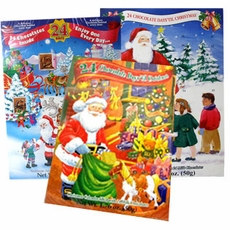Christmas Advent Calendar Filled With Chocolate Candy