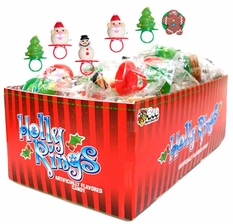 Christmas Candy Holly Rings 48 Count