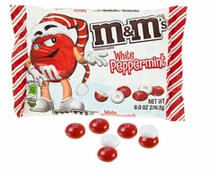 Christmas M&M'S White Peppermint 8oz Bag
